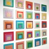 Glittered Albers installation