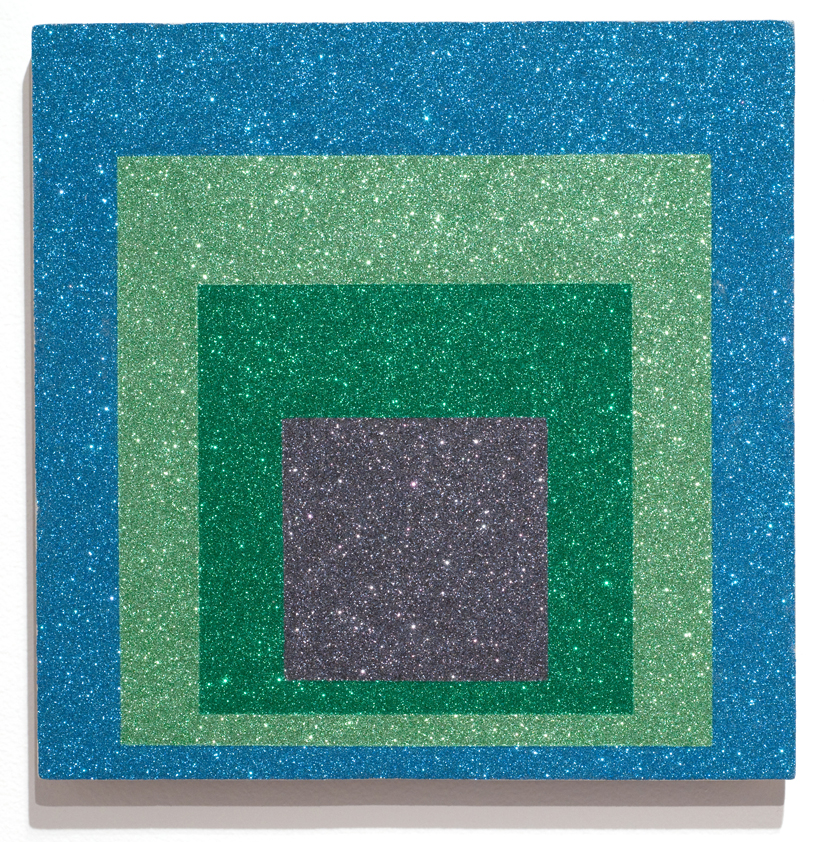 8 glittered albers detail blue